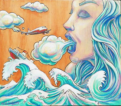 She Blows Art Print by Reid Jenkins