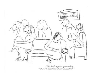Attraction Drawing - She Built Up Her Personality But She's Undermined by James Thurber
