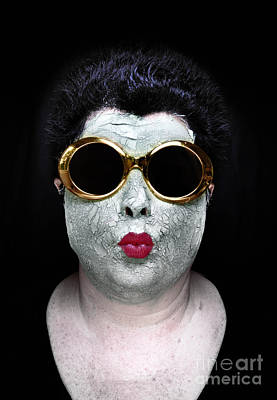Mask Photograph - She Couldnt Achieve Her Glam Looks Without A Battery Of Beauty  by Amy Cicconi