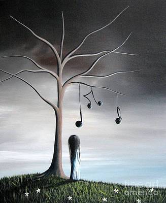 Mystical Landscape Painting - She Cried A Song For You Today By Shawna Erback by Shawna Erback
