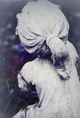 She Dreams Of Angels... Art Print by The Art Of Marilyn Ridoutt-Greene