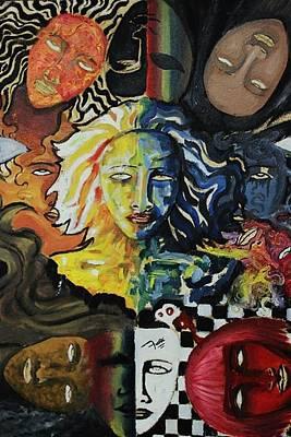 She Faces Art Print by Furqi Faiq