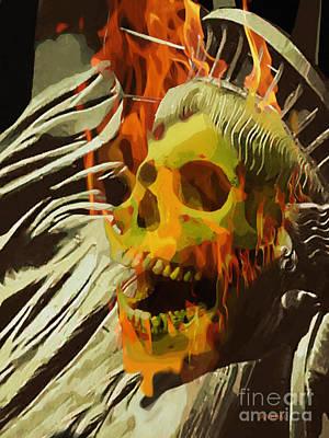 Burning Statue Digital Art - She Fought 'til The End by Joseph Juvenal