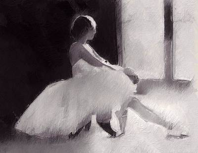 Ballet Dancers Mixed Media - She Has A Dream by Steve K