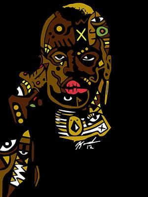 Popstract Digital Art - She Has Insight by Kamoni Khem