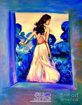 Painting - She by Helena Bebirian
