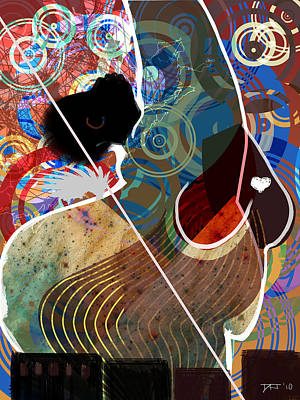 African-american Digital Art - She Is A Spirit Of The City by David James