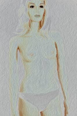 Nude Portraits Photograph - She Is About Pastels by Richard Hemingway