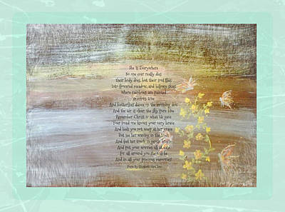 Fairy Poem Wall Art - Painting - She Is Everywhere by Sherry Flaker