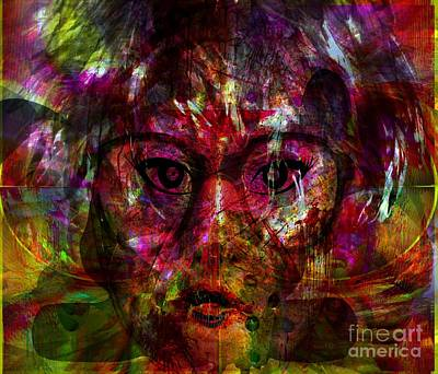 She Is Present But Very Absent Art Print by Fania Simon