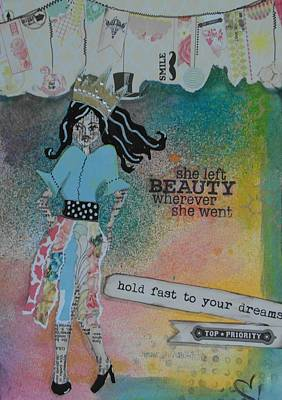 Etc Mixed Media - She Left Beauty by Debbie Hornsby