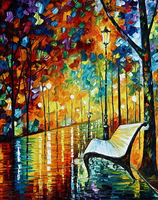 She Left.... New Version Art Print by Leonid Afremov