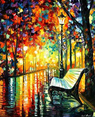 She Left... - Palette Knife Oil Painting On Canvas By Leonid Afremov Original