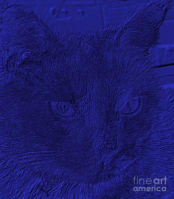 Digital Art - She Likes Blue And I Do Too by Oksana Semenchenko