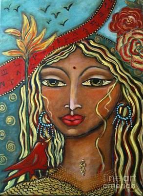 She Listens Art Print by Maya Telford