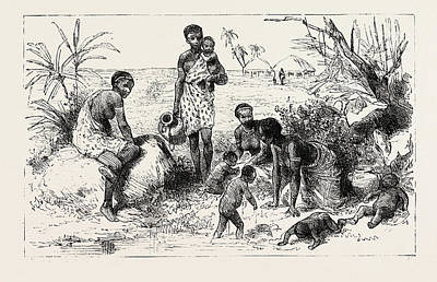 She Lived By An Abyssinian River, Engraving 1884, Slave Art Print by English School