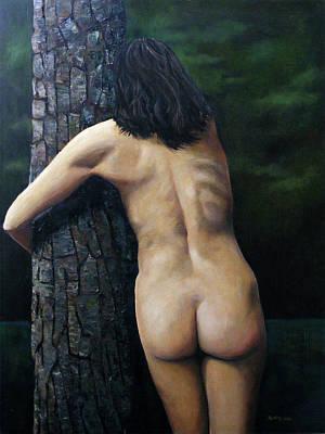 She Loves Trees Art Print by Jo King
