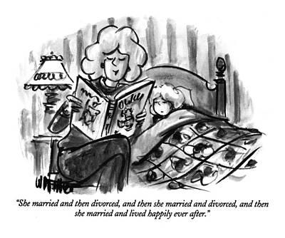 She Married And Then Divorced Art Print by Warren Miller