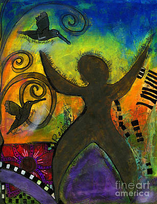Mixed Media - She Rejoices Singing Sweet Songs Of Triumph by Angela L Walker