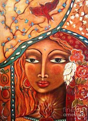 Pear Mixed Media - She Sees by Maya Telford
