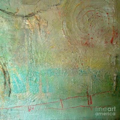 Beige Glass Mixed Media - She Sells Sea Shells by Lisa Schafer