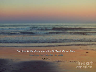 She Stood In The Storm Art Print by Karen Lewis