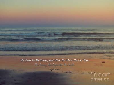 Elizabeth Edwards Photograph - She Stood In The Storm by Karen Lewis