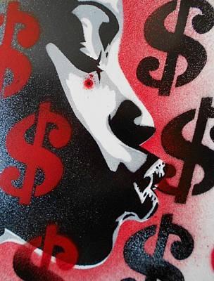 She Takes My Money Art Print by Leon Keay