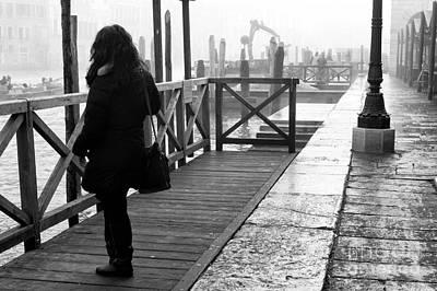 She Waits In Venice Art Print