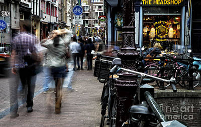 Photograph - She Walks In Amsterdam by John Rizzuto
