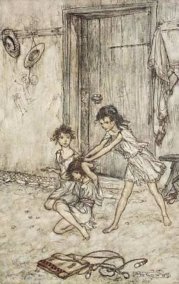 Drawing - She Was A Vixen When She Went by Arthur Rackham