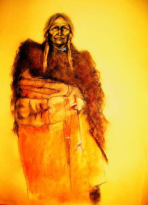 Digital Art - She Wears The Robe - Buffalo Spirit Woman by Johanna Elik