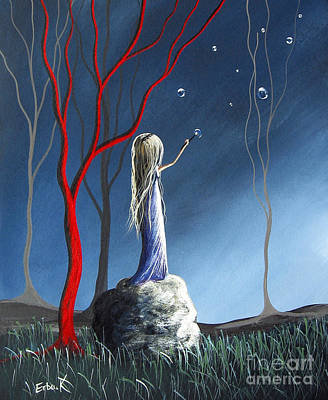Mystical Landscape Painting - She Whispers Her Dreams By Shawna Erback by Shawna Erback