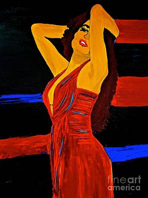Painting - She Wore A Red Dress 3 Xl by Saundra Myles
