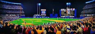 Baseball Art Painting - Shea Stadium Classic by Thomas  Kolendra