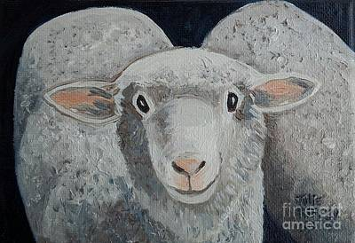 Shorn Sheep Painting - Shear Delight  - Sheep by Julie Brugh Riffey
