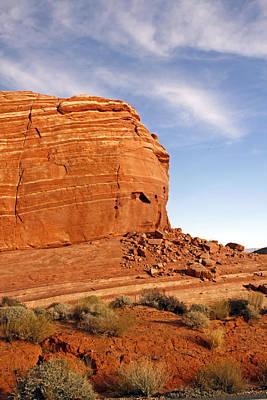 Nevada Photograph - Shear Lined Cliff by Jennifer Robin