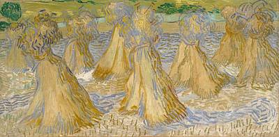 Netherlands Painting - Sheaves Of Wheat by Vincent van Gogh