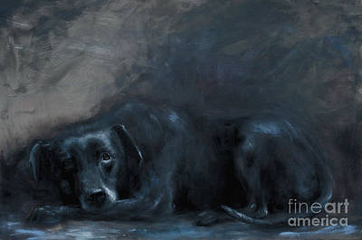 Dog Painting - Sheba- Portrait Of A Homeless Man's Beloved Pet by Stella Violano