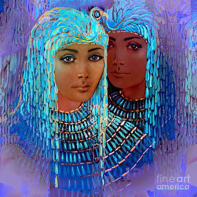 Atlantis Mixed Media - Sheba's Daughters by Jean Marie Bowcott