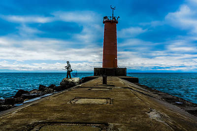 Photograph - Sheboygan Fisherman by Randy Scherkenbach