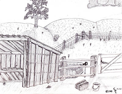 Shed 2 Art Print by Clark Letellier