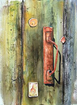 Painting - Shed Door by Sam Sidders