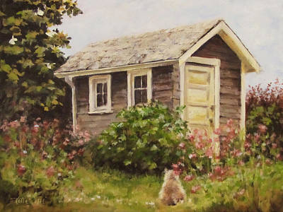Painting - Shed Watch by Karen Ilari