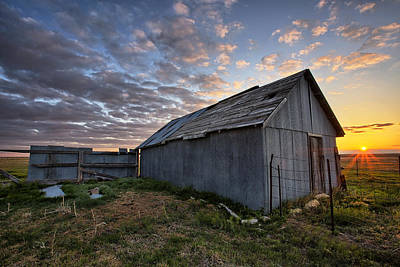 Abandoned Ranch Photograph - Shedded Rising by Thomas Zimmerman