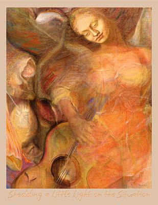 Art Print featuring the pastel Shedding A Little Light On The Situation 1 by Brooks Garten Hauschild