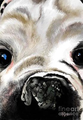 Digital Art - Sheeba Bulldog by Maria Schaefers