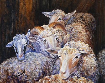 Wall Art - Painting - Sheep 1 by Paula Noblitt