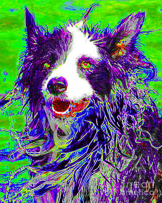 Pup Digital Art - Sheep Dog 20130125v4 by Wingsdomain Art and Photography