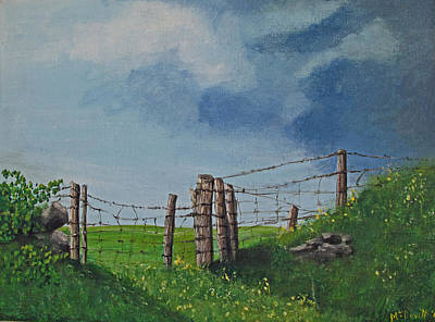 Sheep Field Art Print by Barbara McDevitt